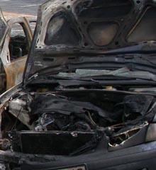 voiture incendiée