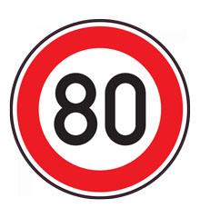 Panneau 80 km/h