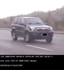 Photo infraction radar automatique