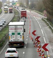 travaux autoroute
